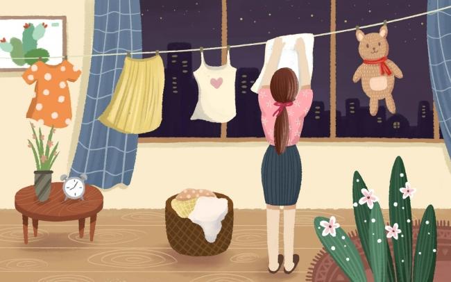 摄图网_401159421_banner_五一在家洗衣服(企业商用)
