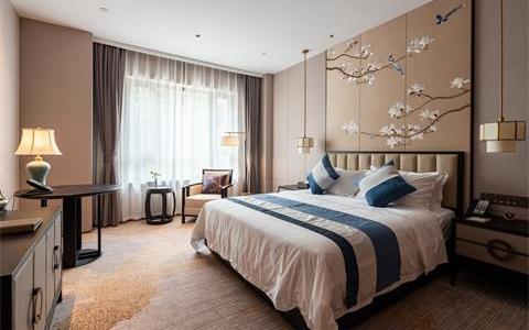 摄图网_501375291_banner_新中式酒店卧室(企业商用)